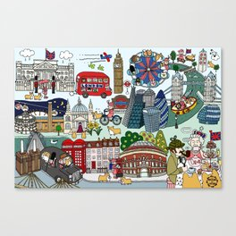 The Queen's London Day Out Canvas Print