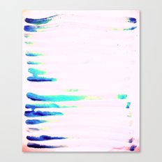 Colorful Seaside Stripes Canvas Print