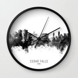 Cedar Falls Iowa Skyline Wall Clock