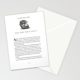 Sorcerer's Stone Chapter One Page One Stationery Cards