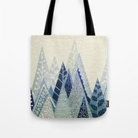 snow Tote Bags featuring Snow Top by rskinner1122