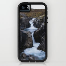 Gufufoss's waterfall iPhone Case