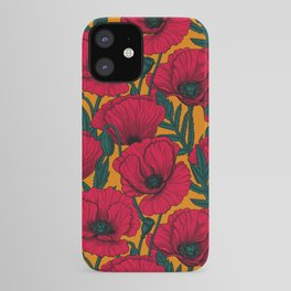 Red poppy garden    iPhone Case