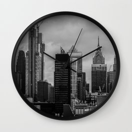 Philly Skyline Wall Clock