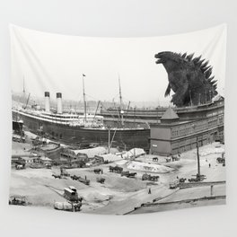 The White Star Line and Godzilla Wall Tapestry