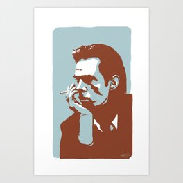 Vodka Melancholy Nick Cave Art Print