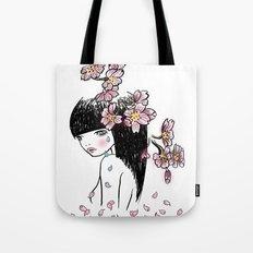 Sakura tears Tote Bag