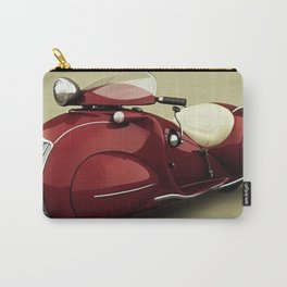 Vintage Candy Apple Red Henderson Art Deco Motorcycle Carry-All Pouch