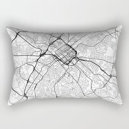 Charlotte Map White Rectangular Pillow