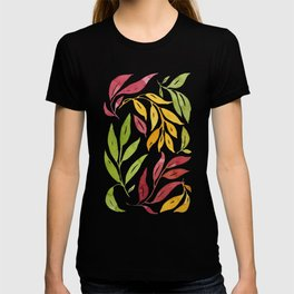 Loose Leaves - warm colors T-shirt