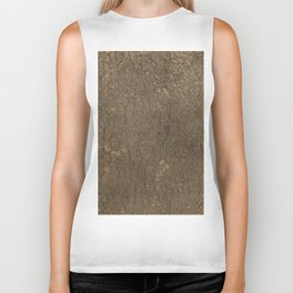 Rustic Tree Bark Pattern Biker Tank