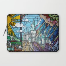 Hogwarts stained glass style Laptop Sleeve