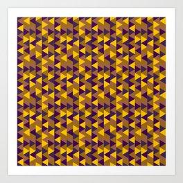 Funky Triangles Art Print