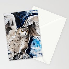 """Owl - Animal - """"I own the night..."""" by LiliFlore Stationery Cards"""