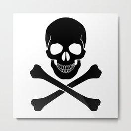 Skull & Bones Metal Print