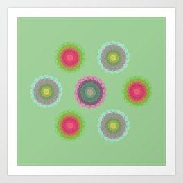 transparent floral pattern 4 Art Print