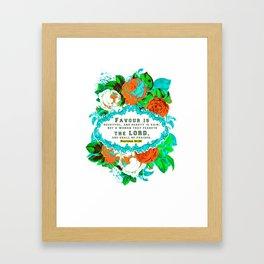 Proverb 31 Women's short sleeve t-shirt christian scripture design Framed Art Print