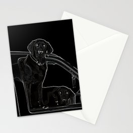 Outline of Labrador Stationery Cards