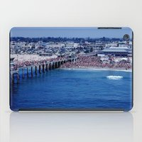 1984 iPad Cases featuring O.P. Pro Surfing Contest H.B. Pier 1984 by John Lyman Photos