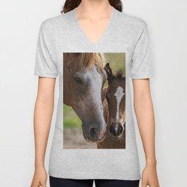 Horse Family Unisex V-Neck