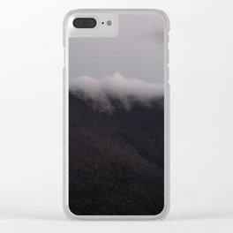 Sundown Mountain Mist in the Catskills Clear iPhone Case