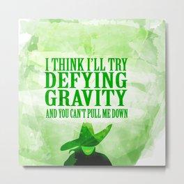 defying gravity Metal Print