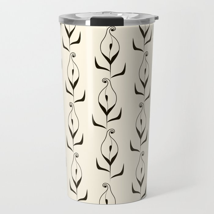 Art Deco No. 47 . Calla . Travel Mug