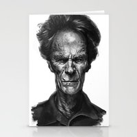 clint eastwood Stationery Cards featuring Clint Eastwood by Thomas Bryant