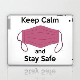 AP180-6 Keep Calm and Stay Safe Laptop & iPad Skin