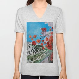 Ski Roses Unisex V-Neck