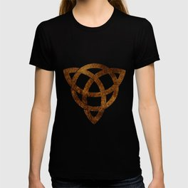 Celtic knot on old paper T-shirt