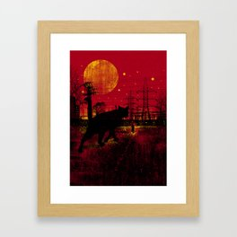 Cleo in the Dark Framed Art Print