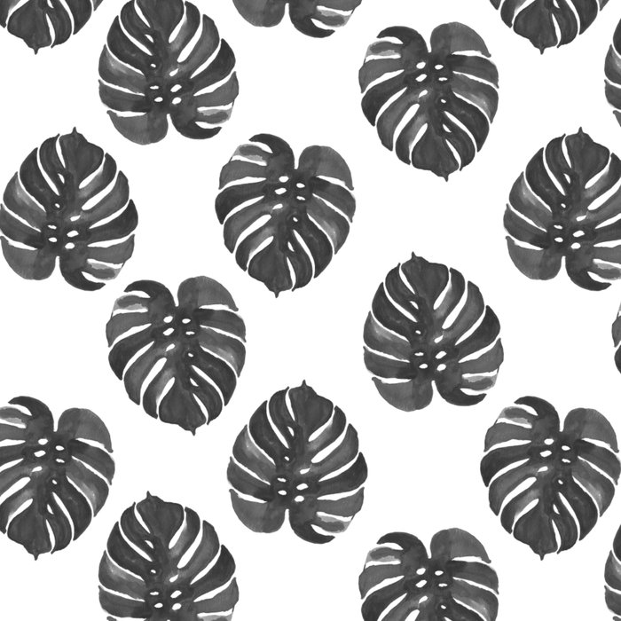 Monstera house plant leaf black and white painting  hipster indoor house plant tropical garden   Leggings