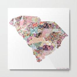 South Carolina map Metal Print