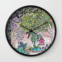 Val's Beautiful Garden Wall Clock