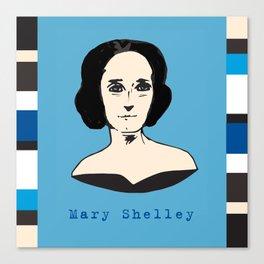 Mary Shelley, hand-drawn portrait Canvas Print