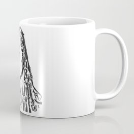 Fiona Apple in Lines, Black and White Coffee Mug