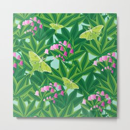 Rousseau's Lily Patch Metal Print