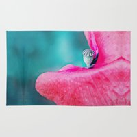 poppy Area & Throw Rugs featuring POPPY by INA FineArt