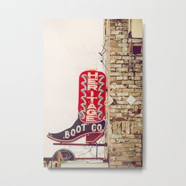 Downtown Austin Texas Neon Metal Print