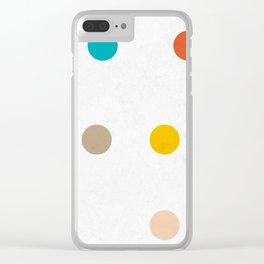 colourful pokka Clear iPhone Case
