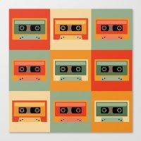 cassette Canvas Prints featuring cassette by vitamin