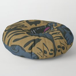 Golden Tiger Floor Pillow