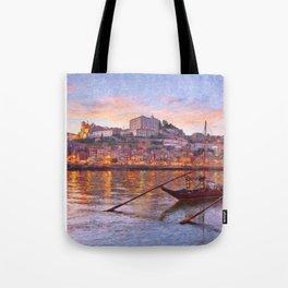 Porto at dusk Tote Bag