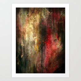 Fall Abstract Acrylic Textured Painting Art Print