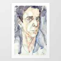 lou reed Art Prints featuring Lou Reed by Germania Marquez