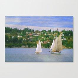 Port Townsend Sailing Canvas Print