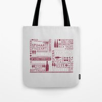 wine Tote Bags featuring Wine by Davide Rostirolla