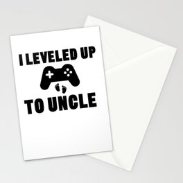 I Leveled Up To Uncle Stationery Cards