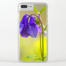 Purple Columbine In Spring Mood Clear iPhone Case